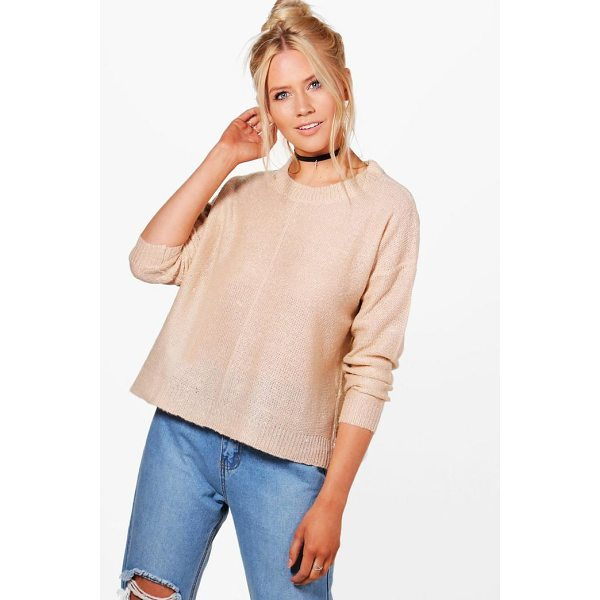 BOOHOO Daisy Seam Detail Boxy Jumper - Nail new season knitwear in the jumpers and cardigans that...