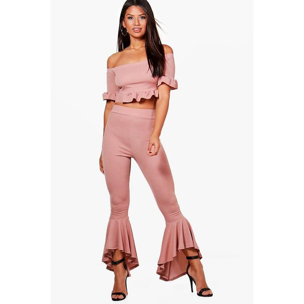 BOOHOO Danielle Frill Hem Trouser & Crop Co-ord - Co-ordinates are the quick way to quirky this seasonMake...