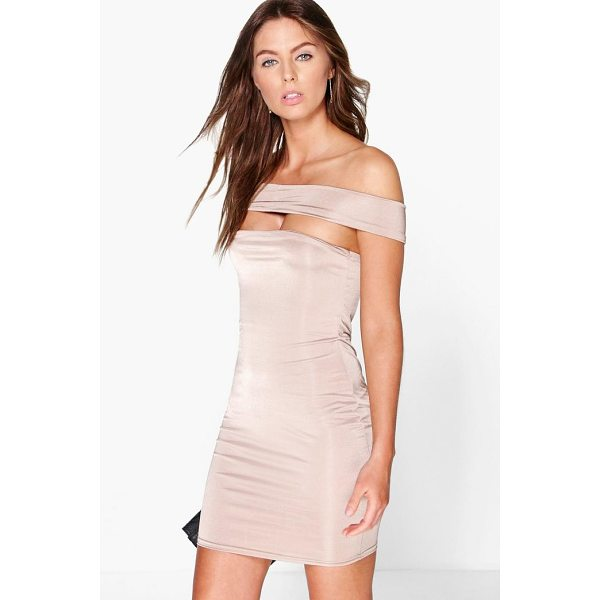 BOOHOO Demi Off The Shoulder Strappy Dress - Dresses are the most-wanted wardrobe item for day-to-night...