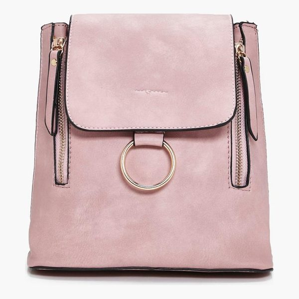 BOOHOO Diana Loop Ring Detail Rucksack - Add attitude with accessories for those fashion-forward...