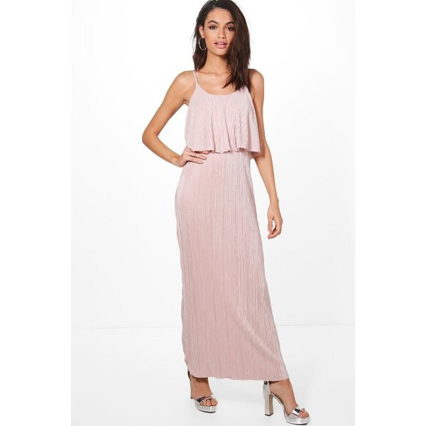 BOOHOO Dina Double Layer Crinkle Maxi Dress - Dresses are the most-wanted wardrobe item for day-to-night...