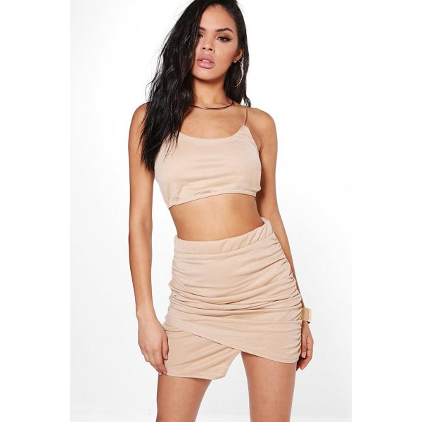 BOOHOO Dory Wrap Plunge Mini Skirt & Bralet Co-Ord - Co-ordinates are the quick way to quirky this seasonMake...