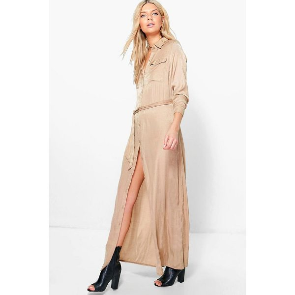 BOOHOO Eleanor Utility Maxi Shirt Dress - Dresses are the most-wanted wardrobe item for day-to-night...