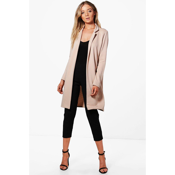 BOOHOO Elena Pocket Rib Duster - Wrap up in the latest coats and jackets and get out-there...