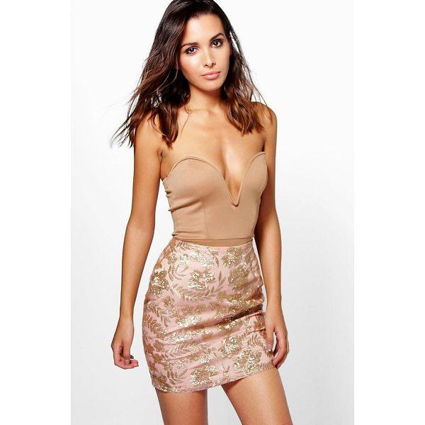 BOOHOO Elettera Embroidered Sequin Mini Skirt - Skirts are the statement separate in every wardrobe This...