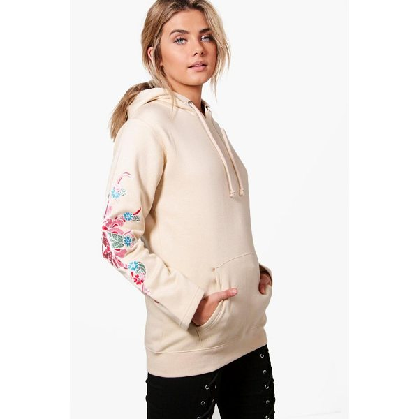 BOOHOO Eliza Embroidered Sleeve Hoody - Steal the style top spot in a statement separate from the...
