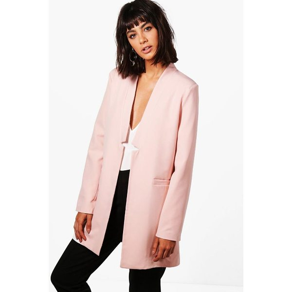 BOOHOO Eliza Premium Notch Neck Tailored Lined Blazer - Wrap up in the latest coats and jackets and get out-there...