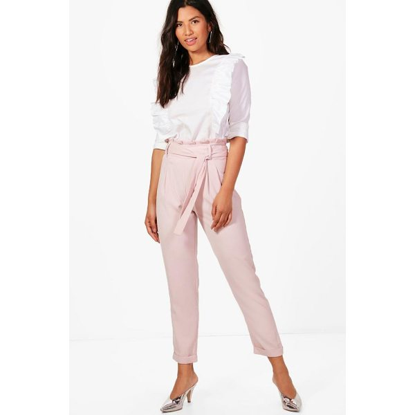 BOOHOO Eliza Premium Paperbag Waist Tailored Trouser - Trousers are a more sophisticated alternative to...