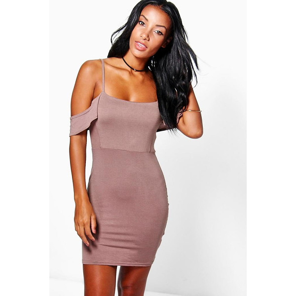 BOOHOO Eliza Strappy Cold Shoulder Mini Dress - Pared back day dresses are the perfect base for layering up...
