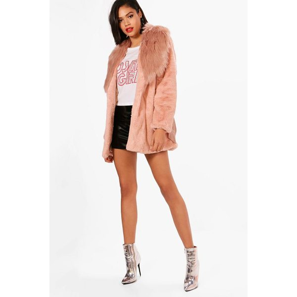 BOOHOO Elizabeth Boutique Mix Faux Fur Belted Coat - Wrap up in the latest coats and jackets and get out-there...