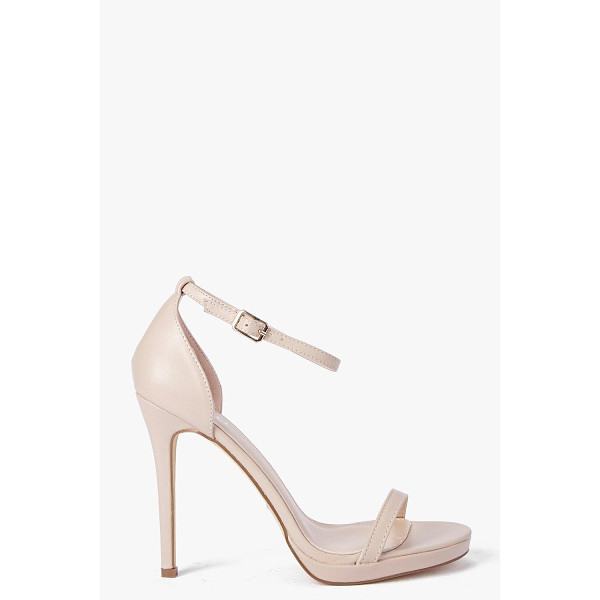 BOOHOO Elizabeth Single Platform Two Part Heels - When it comes to heels, go high or go home!Send your style...
