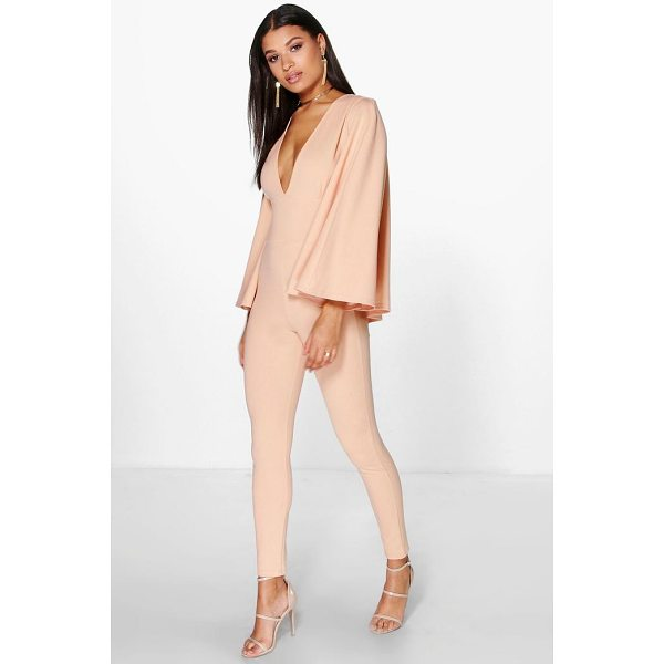 BOOHOO Ella Cape Style Skinny Leg Jumpsuit - Jump start your new season wardrobe with the always chic...