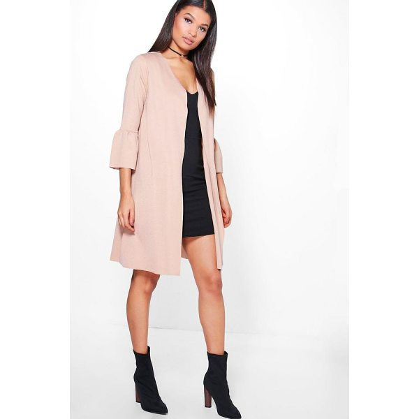 BOOHOO Ella Frill Sleeve Duster - Wrap up in the latest coats and jackets and get out-there...