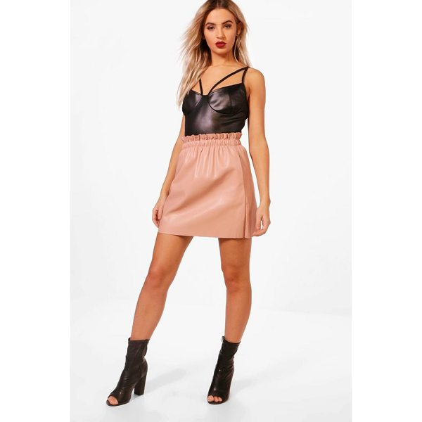 BOOHOO Elle PU Pocket Detail Mini Skirt - Skirts are the statement separate in every wardrobe This...