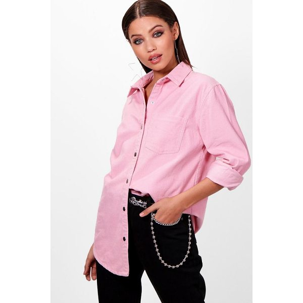 BOOHOO Ellie Oversized Cord Shirt - Hit refresh on your casual wardrobe with a denim top. We've...