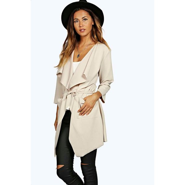 BOOHOO Eloise Belted Duster - Wrap up in the latest coats and jackets and get out-there...