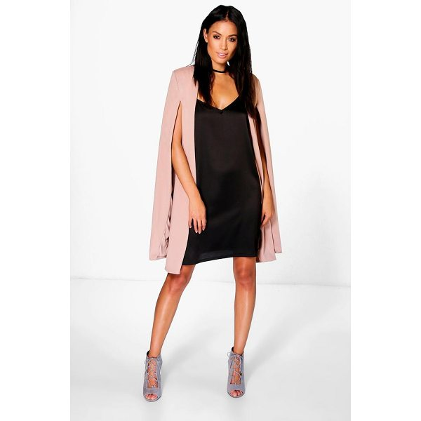 BOOHOO Eloise Longline Cape - Wrap up in the latest coats and jackets and get out-there...
