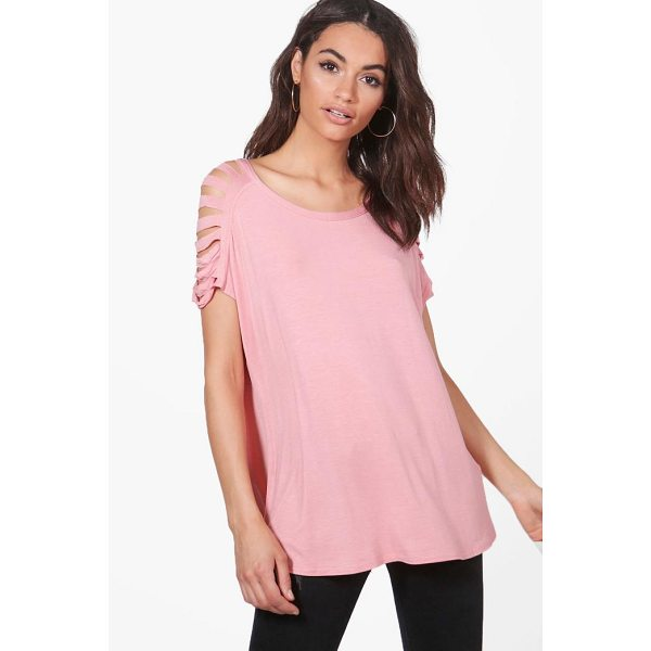 BOOHOO Emery Distressed Shoulder T-Shirt - We believe in rocking killer tops on a day-to-day basis, so...