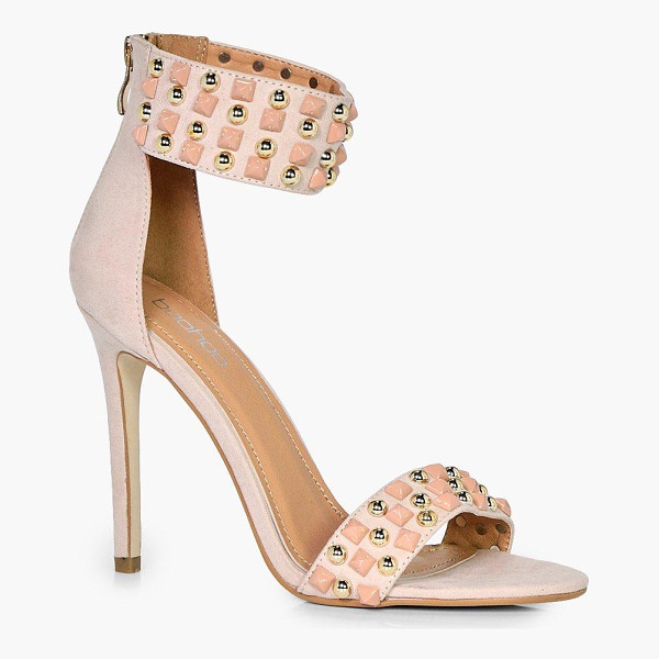 BOOHOO Emily 2 Part Studded Heel - We'll make sure your shoes keep you one stylish step ahead...
