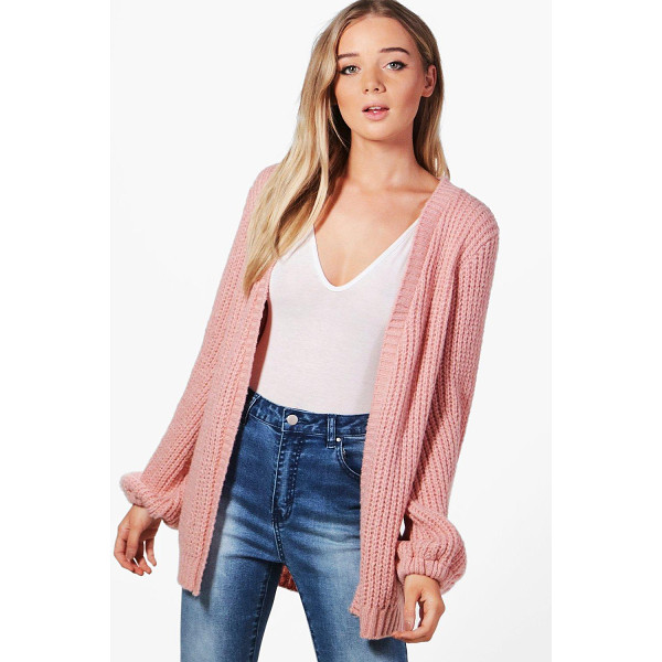 BOOHOO Emily Blouson Sleeve Soft Knit Cardigan - Nail new season knitwear in the jumpers and cardigans that...