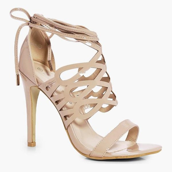 BOOHOO Emily Cage Wrap Ankle Heels - We'll make sure your shoes keep you one stylish step ahead...