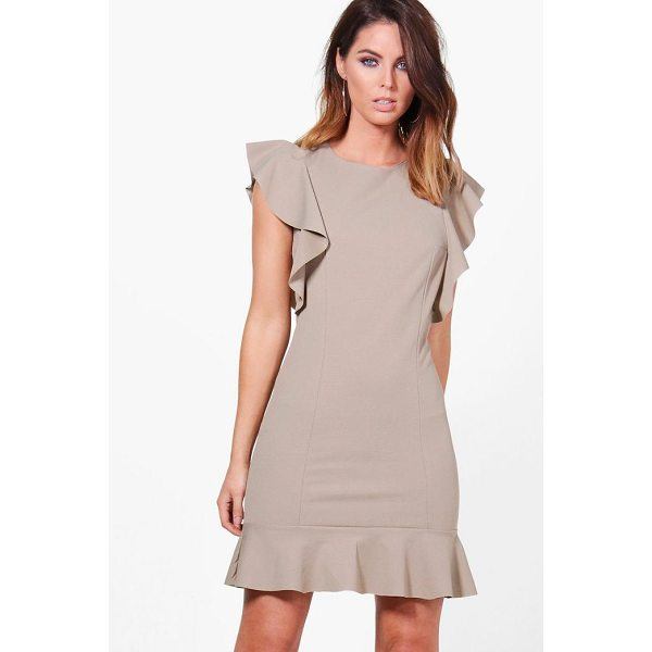 BOOHOO Emma Frill Hem Dress - Dresses are the most-wanted wardrobe item for day-to-night...