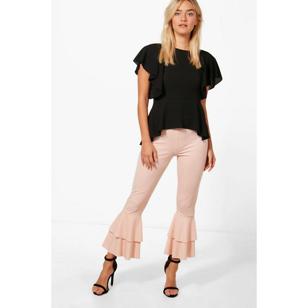 BOOHOO Emma Frill Hem Trouser - Trousers are a more sophisticated alternative to...
