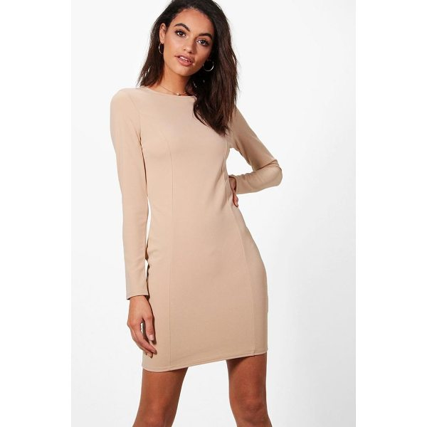 BOOHOO Emma Seam Detail Dress - Dresses are the most-wanted wardrobe item for day-to-night...