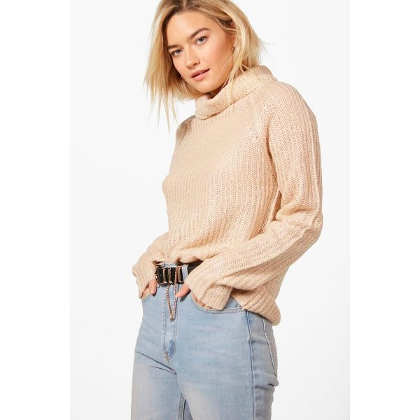 BOOHOO Emma Soft Knit Turtle Neck Jumper - Nail new season knitwear in the jumpers and cardigans that...