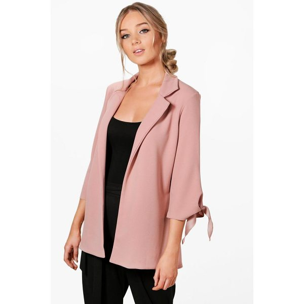 BOOHOO Emma Tie Cuff Tailored Blazer - Wrap up in the latest coats and jackets and get out-there...