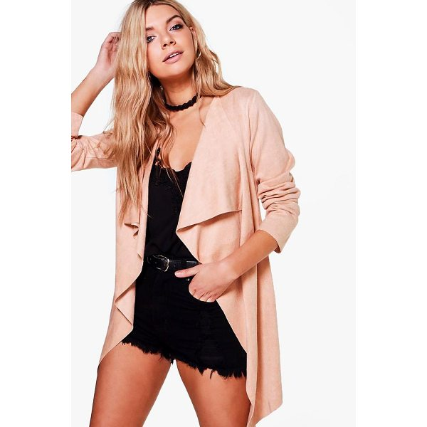 BOOHOO Erica Waterfall Suedette Jacket - Wrap up in the latest coats and jackets and get out-there...