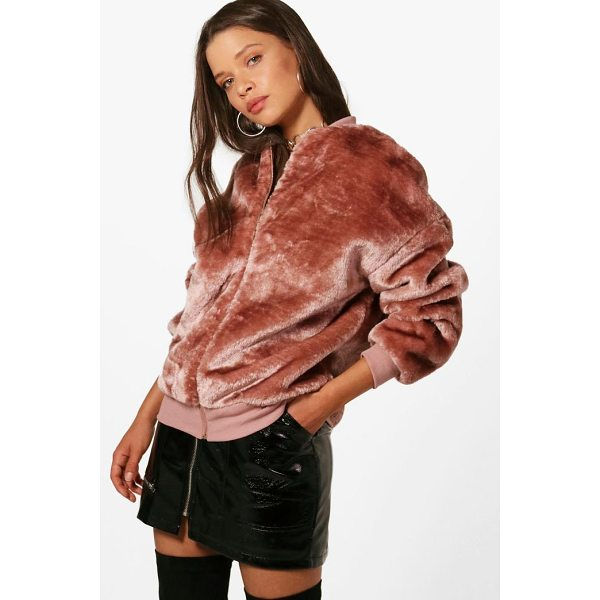 BOOHOO Erin Faux Fur Bomber Jacket - Wrap up in the latest coats and jackets and get out-there...