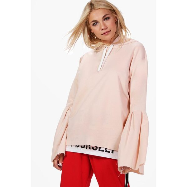 BOOHOO Erin Flare Sleeve Oversized Hoody - Steal the style top spot in a statement separate from the...