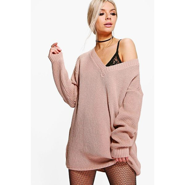 BOOHOO Erin Rib V-Neck Jumper Dress - Going out' We've got all the must have mini dresses: think...