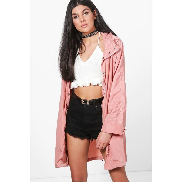 BOOHOO Erin Zip Out Hood Rain Coat - Wrap up in the latest coats and jackets and get out-there...