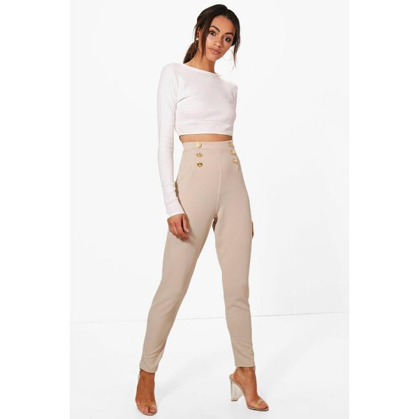 BOOHOO Eva Button Front Skinny Trouser - Trousers are a more sophisticated alternative to...