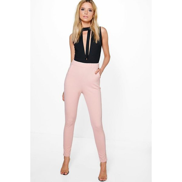 BOOHOO Eva Crepe Stretch Skinny Trousers - Trousers are a more sophisticated alternative to...