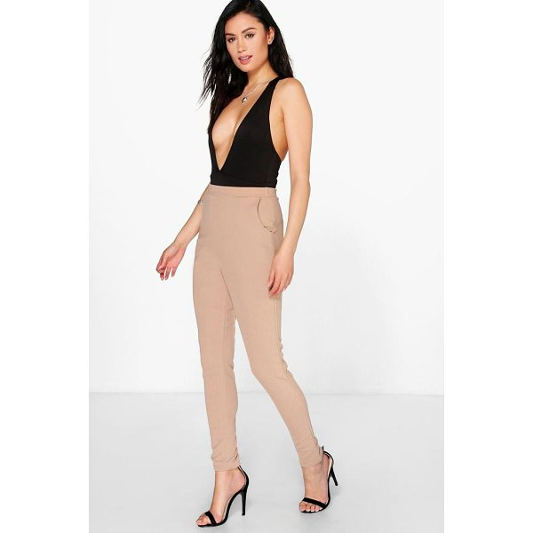 BOOHOO Eva Crepe Super Stretch Skinny Trousers - Trousers are a more sophisticated alternative to...