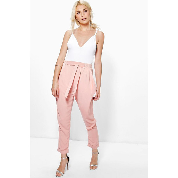 BOOHOO Eva Drape Side Woven Tailored Joggers - Trousers are a more sophisticated alternative to...