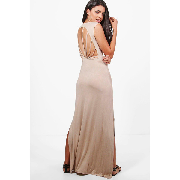 BOOHOO Eve Caged Back Maxi Dress - Dresses are the most-wanted wardrobe item for day-to-night...
