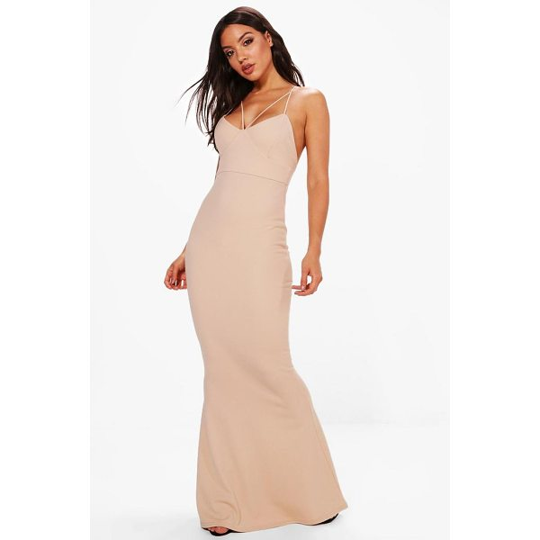 BOOHOO Evie Strappy Detail Fishtail Maxi Dress - Dresses are the most-wanted wardrobe item for day-to-night...