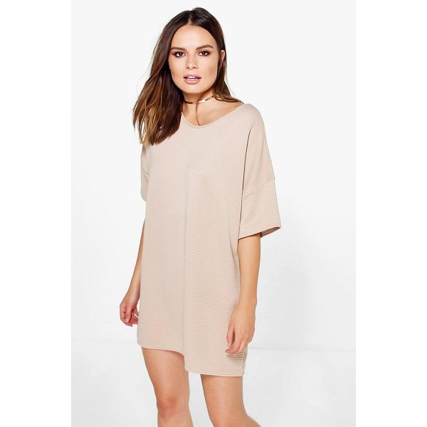 BOOHOO Fay Premium Ribbed Oversized Shift Dress - Dresses are the most-wanted wardrobe item for day-to-night...