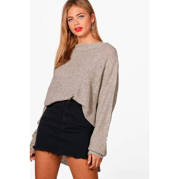 BOOHOO Faye Oversized Boucle Marl Jumper - Nail new season knitwear in the jumpers and cardigans that...