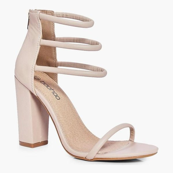 BOOHOO Faye Three Strap Ankle Band Block Heels - We'll make sure your shoes keep you one stylish step ahead...