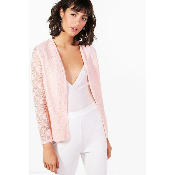 BOOHOO Fiona Lace Edge To Edge Blazer - Wrap up in the latest coats and jackets and get out-there...