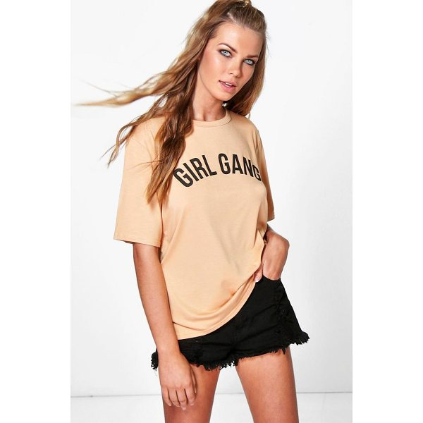 BOOHOO Flora Girl Gang Oversized T-Shirt - Steal the style top spot in a statement separate from the...