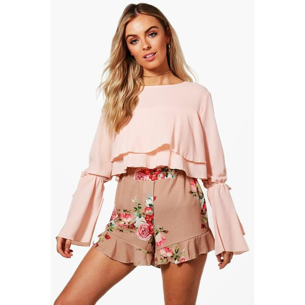 BOOHOO Florence Ruffle Hem Floral Shorts - Parade your pins in a pair of shortsA versatile...
