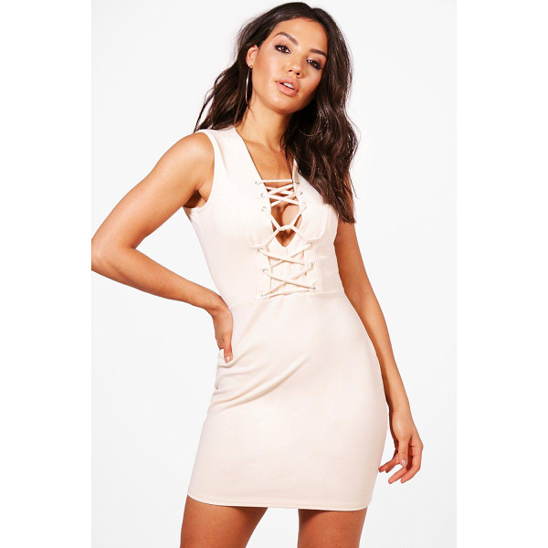 BOOHOO Fran Corset Detail Bodycon Dress - Dresses are the most-wanted wardrobe item for day-to-night...