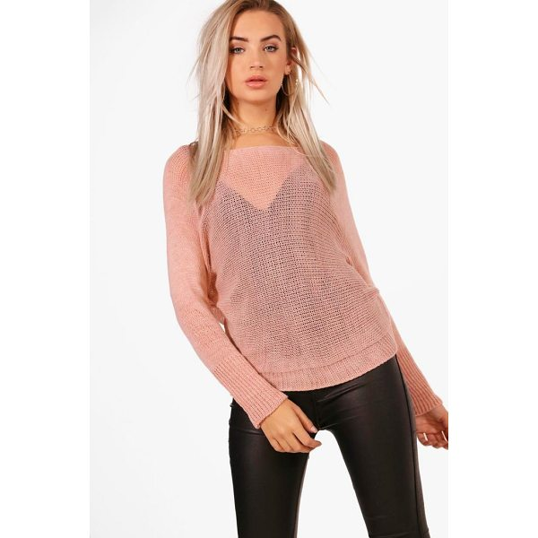 BOOHOO Francesca Slouchy Oversized Jumper - Nail new season knitwear in the jumpers and cardigans that...