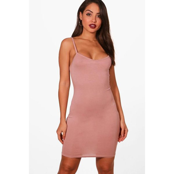 BOOHOO Freida Basic Strappy Cami Bodycon Dress - Dresses are the most-wanted wardrobe item for day-to-night...